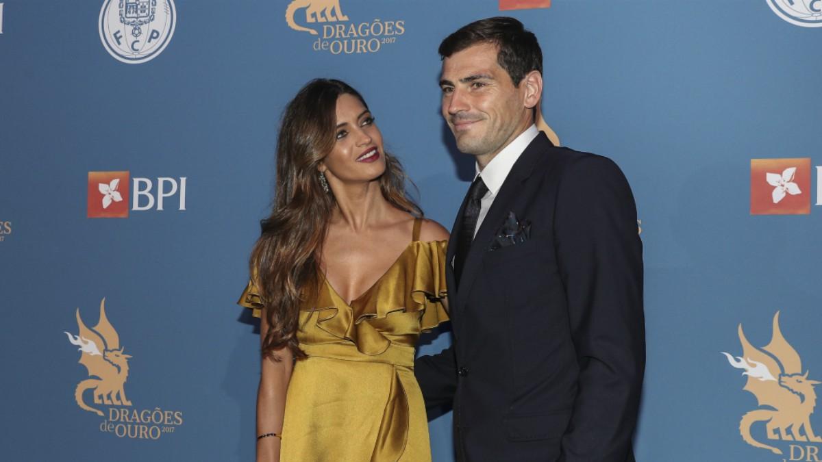 Casillas, junto a Sara Carbonero en un acto. (Getty)