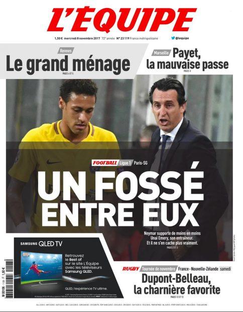 L'Equipe confirma lo que adelantó DIARIO MADRIDISTA: Neymar y Emery no se hablan