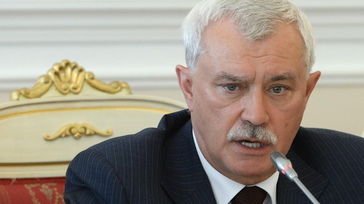 El gobernador de San Petersburgo, Gueorgui Poltavtchenko. (AFP)