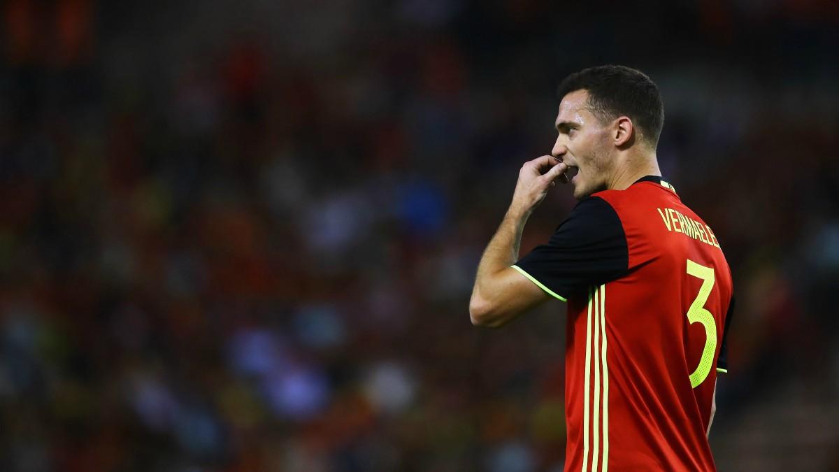 Vermaelen, en un partido con la selección de Bélgica. (Getty)