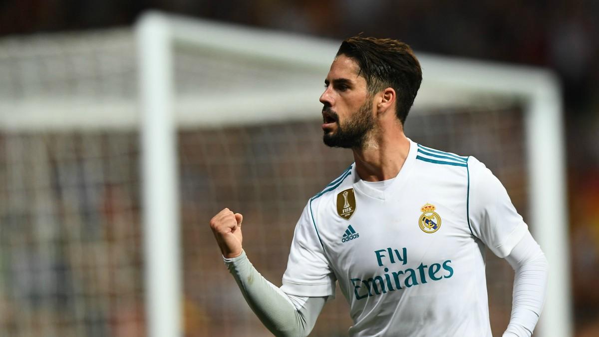 Isco celebra un gol con el Real Madrid. (AFP)