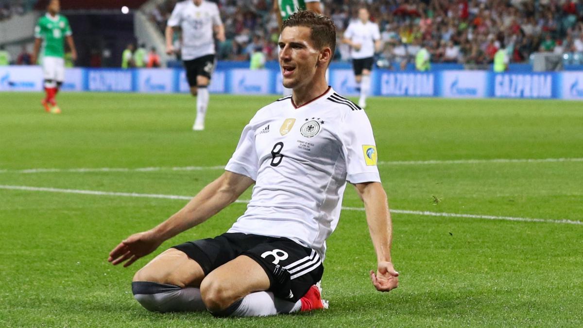 Goretzka celebra un gol con Alemania durante la Confederaciones. (Getty Images)