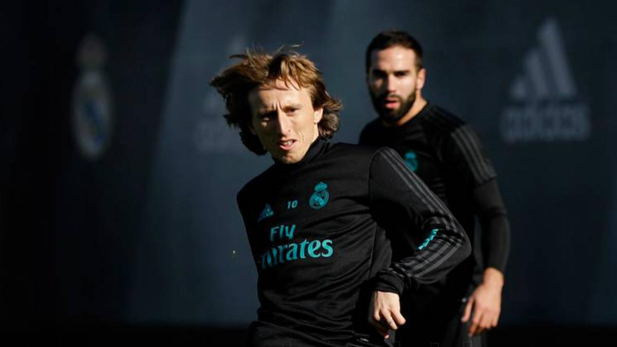 Luka Modric durante un entrenamiento con el Real Madrid. (realmadrid.com)