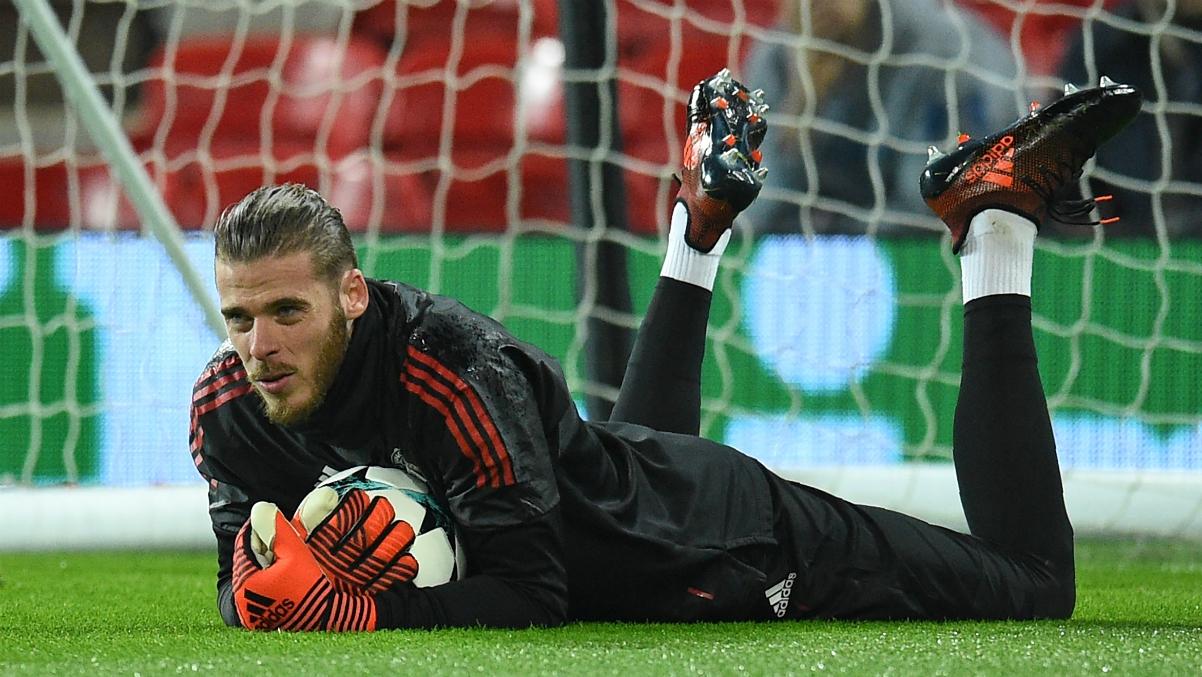 De Gea durante el último partido con la Selección. (AFP)