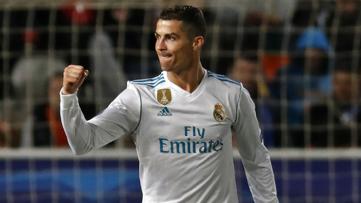 Cristiano Ronaldo celebra un gol esta temporada. (AFP)