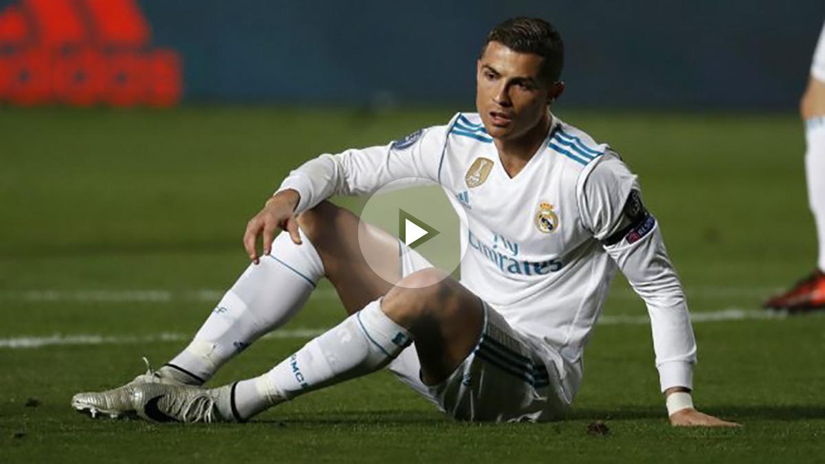 Cristiano Ronaldo, en un lance del APOEL vs Real Madrid. (AFP)