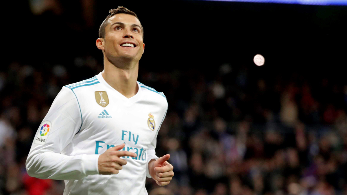 Cristino Ronaldo celebra su gol ante el Málaga.
