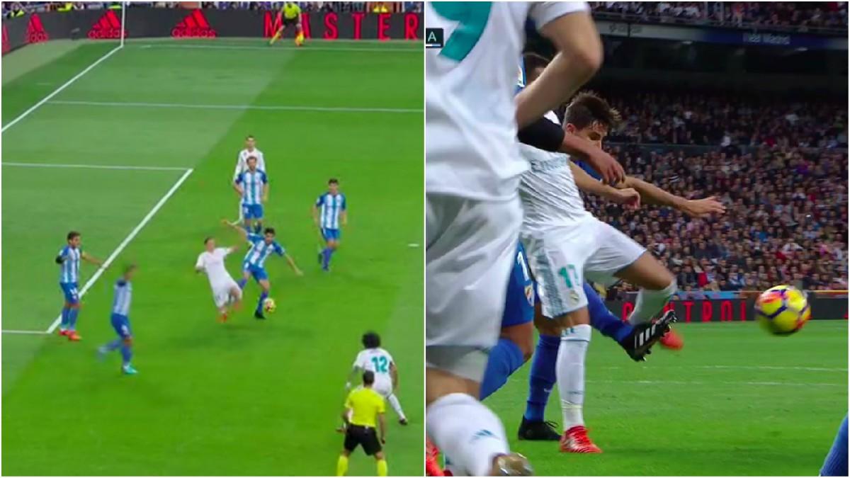 Lucas, víctima de todo aquella noche, también sufrió un penalti de Adrián que quedó en nada.