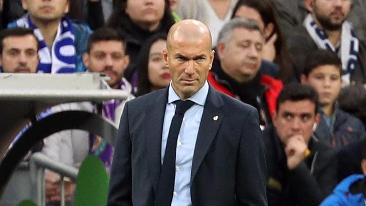 Zidane, durante el Real Madrid-Málaga.