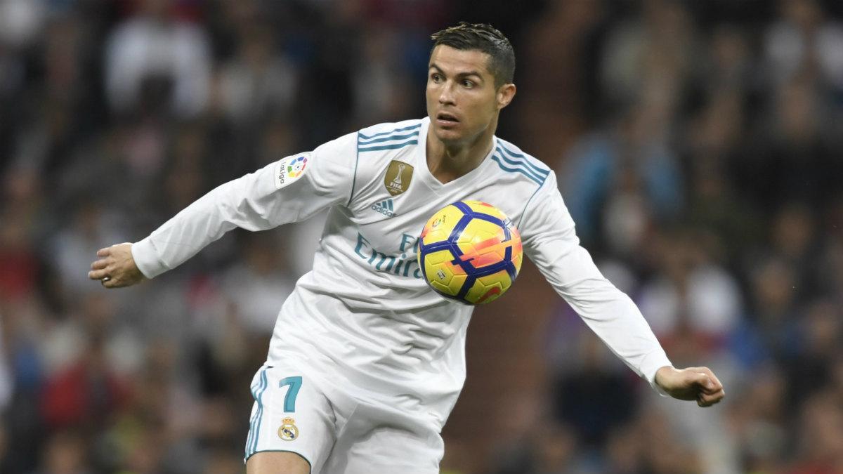 Cristiano Ronaldo durante el partido ante el Málaga. (AFP)