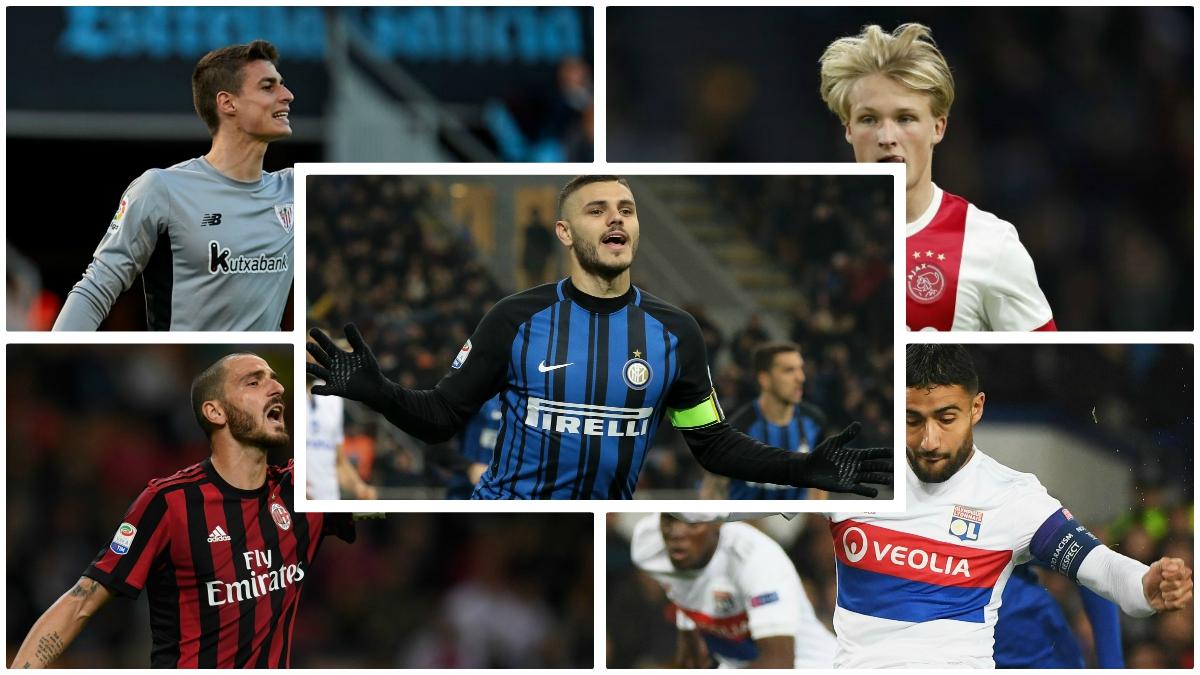 Kepa, Bonucci, Dolberg, Fekir e Icardi pueden ser los regalos de Reyes de Zidane. (Fotos: Getty Images)