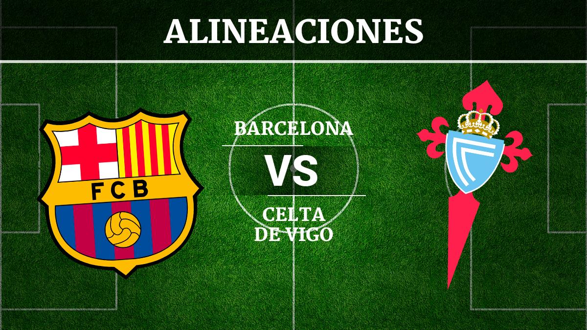 Consulta las posibles alineaciones del Barcelona vs Celta de Vigo.