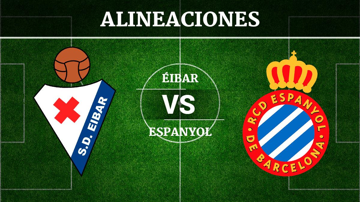 Consulta las posibles alineaciones del Éibar vs Espanyol.