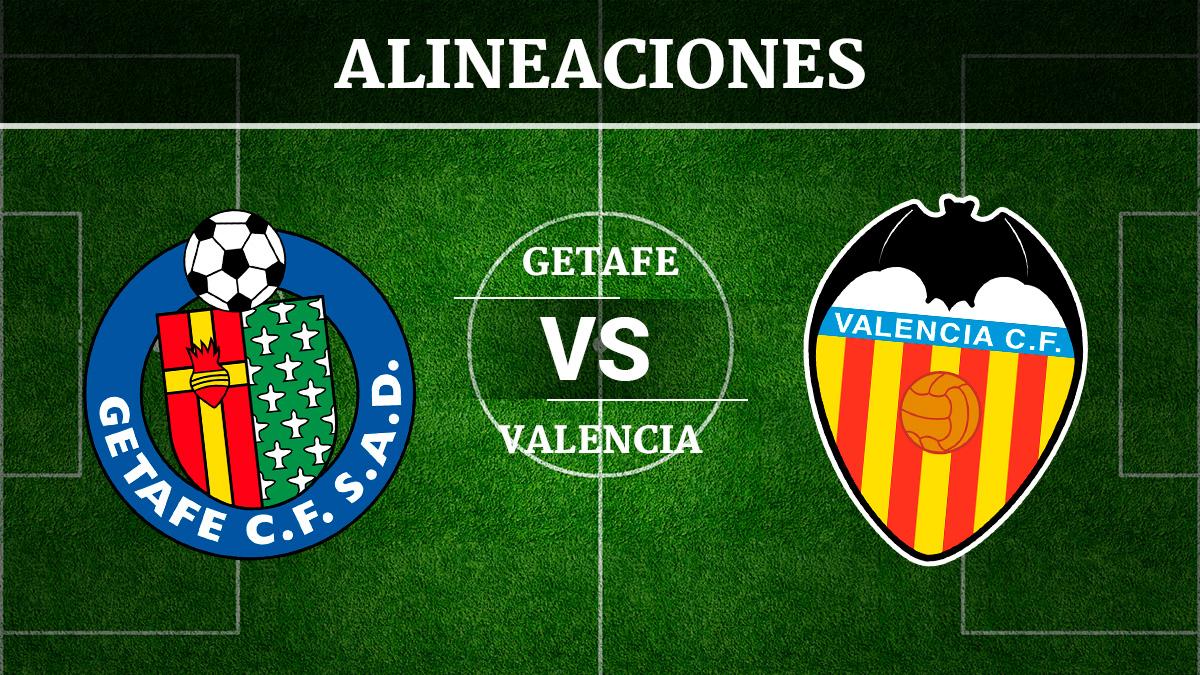 Consulta las posibles alineaciones del Getafe vs Valencia.