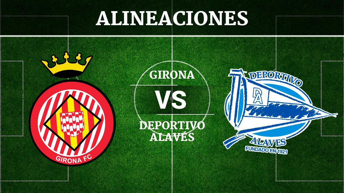Consulta las posibles alineaciones del Girona vs Alavés.