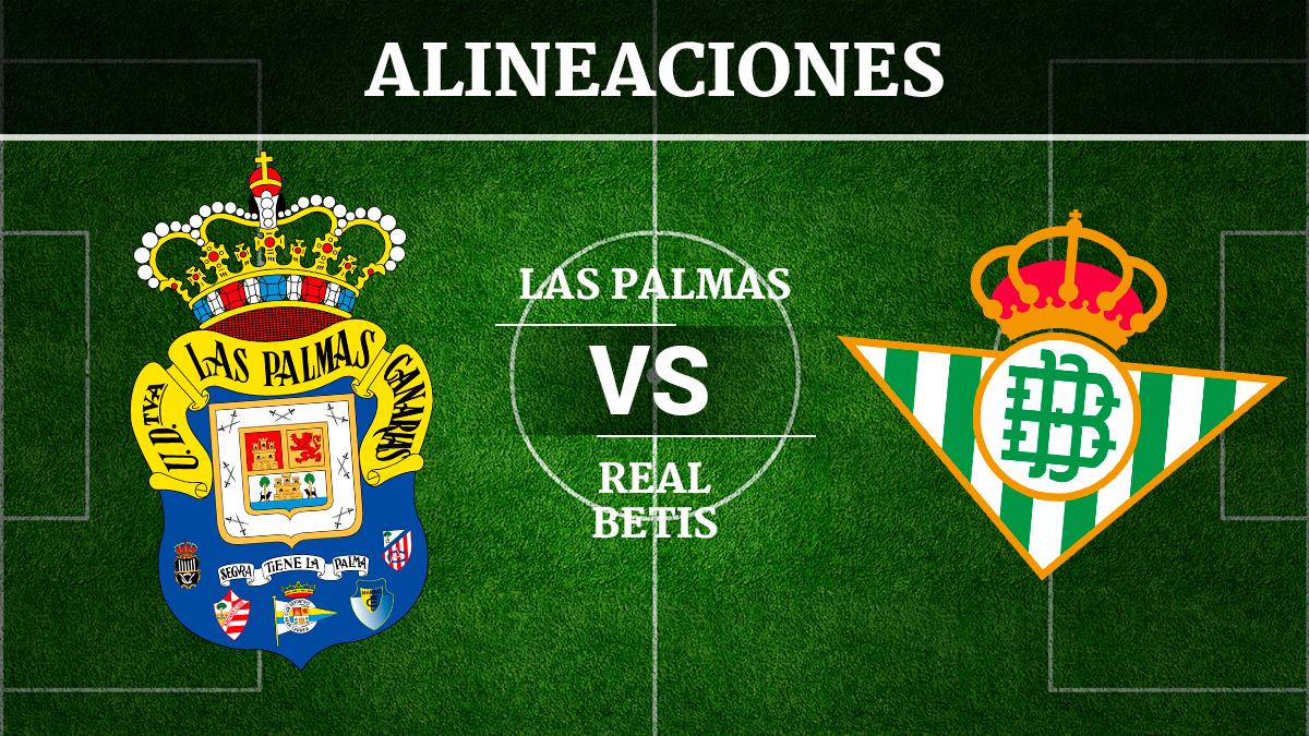 Consulta las posibles alineaciones del Las Palmas vs Betis.