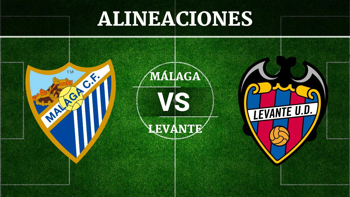 Consulta las posibles alineaciones del Málaga vs Levante.