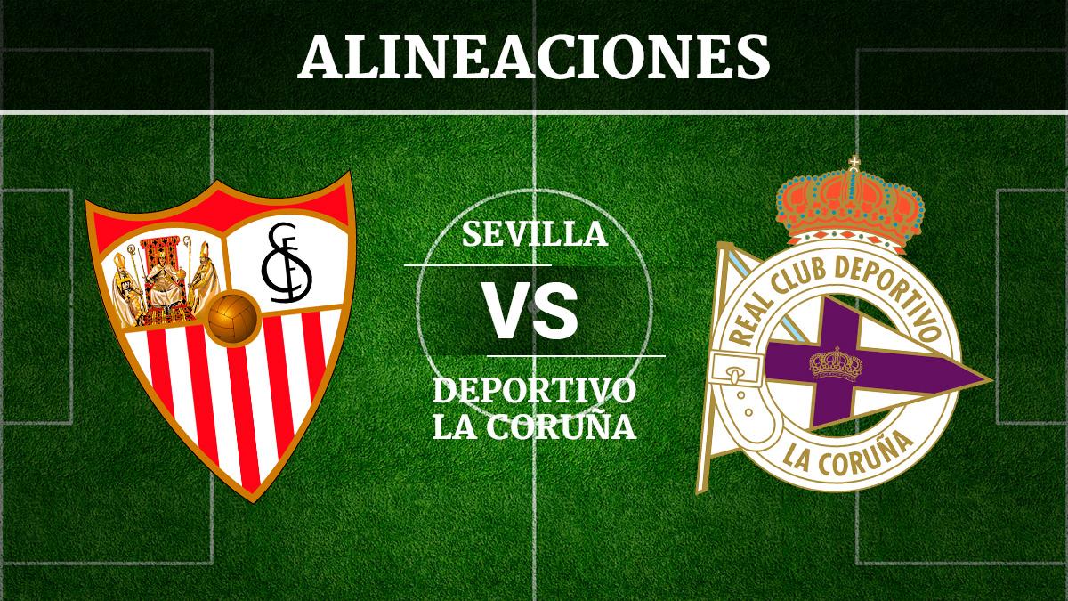 Consulta las posibles alineaciones del Sevilla vs Deportivo de la Coruña.
