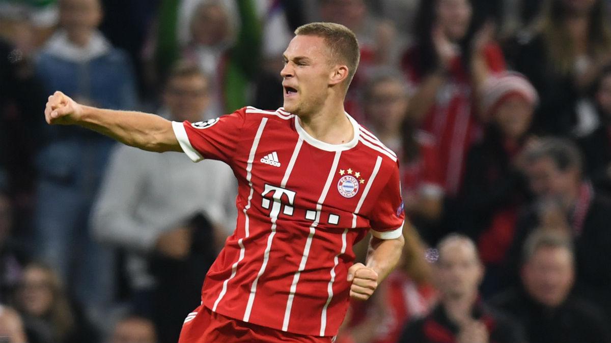 Joshua Kimmich celebra un gol con el Bayern. (AFP)