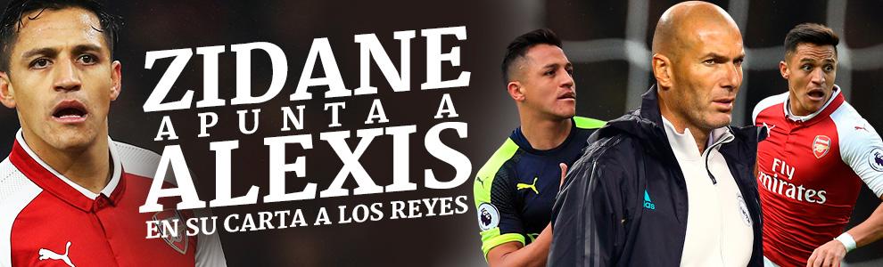 Zidane apunta a Alexis en su carta a los Reyes