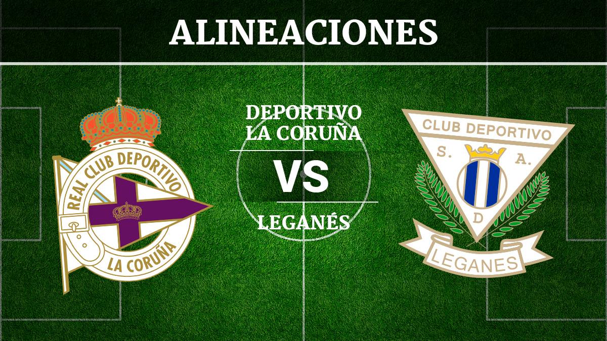 Consulta las posibles alineaciones del Deportivo de la Coruña vs Leganés.