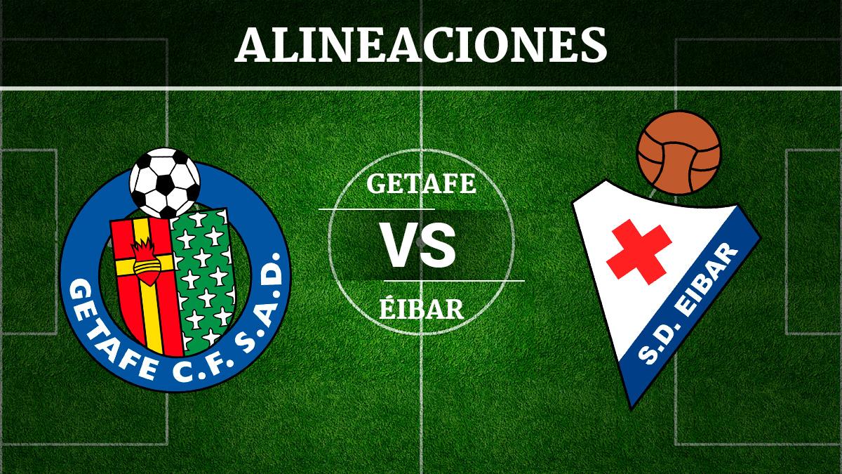 Consulta las posibles alineaciones del Getafe vs Éibar.