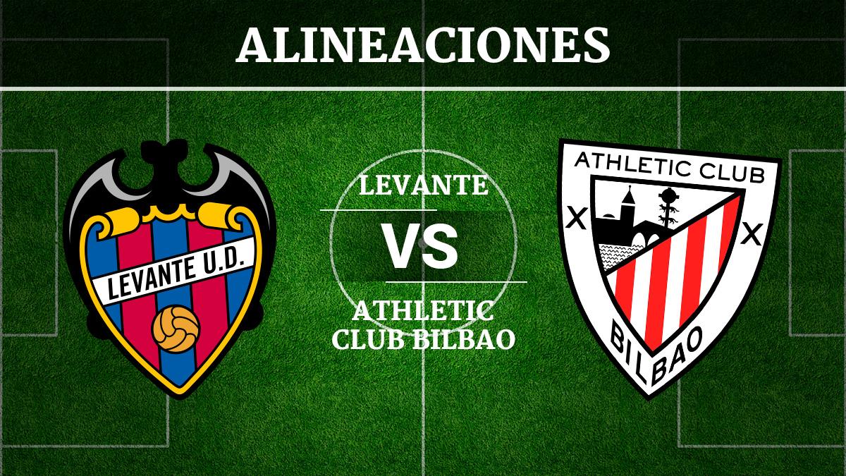 Consulta las posibles alineaciones del Levante vs Athletic de Bilbao.