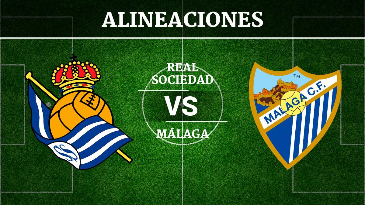 Consulta las posibles alineaciones del Real Sociedad vs Málaga.