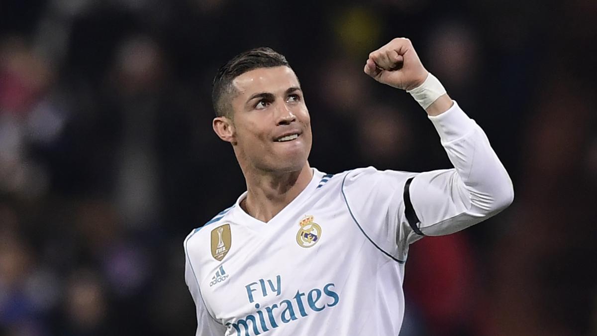 Cristiano Ronaldo celebra su gol ante el Dortmund (AFP).