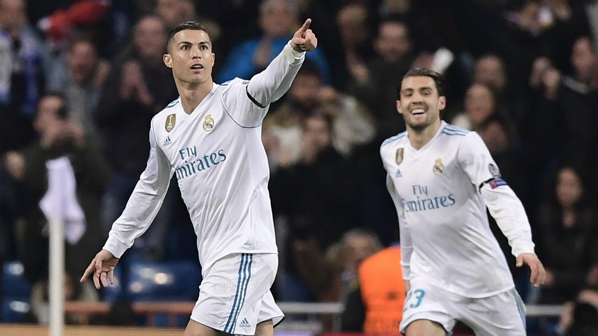 Cristiano Ronaldo celebra el gol el Dortmund. (AFP)