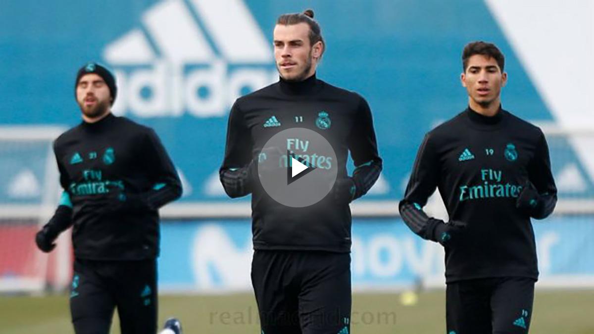 Bale realizó una parte del entrenamiento con el grupo.