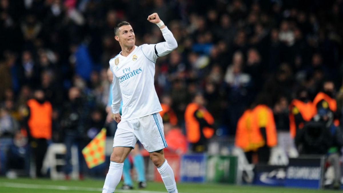Cristiano Ronaldo celebra su gol al Borussia Dortmund (Getty).