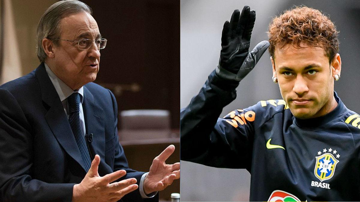 """Guiño de Florentino a Neymar: """"Estando en el Madrid tendría más fácil ganar el Balón de Oro"""""""