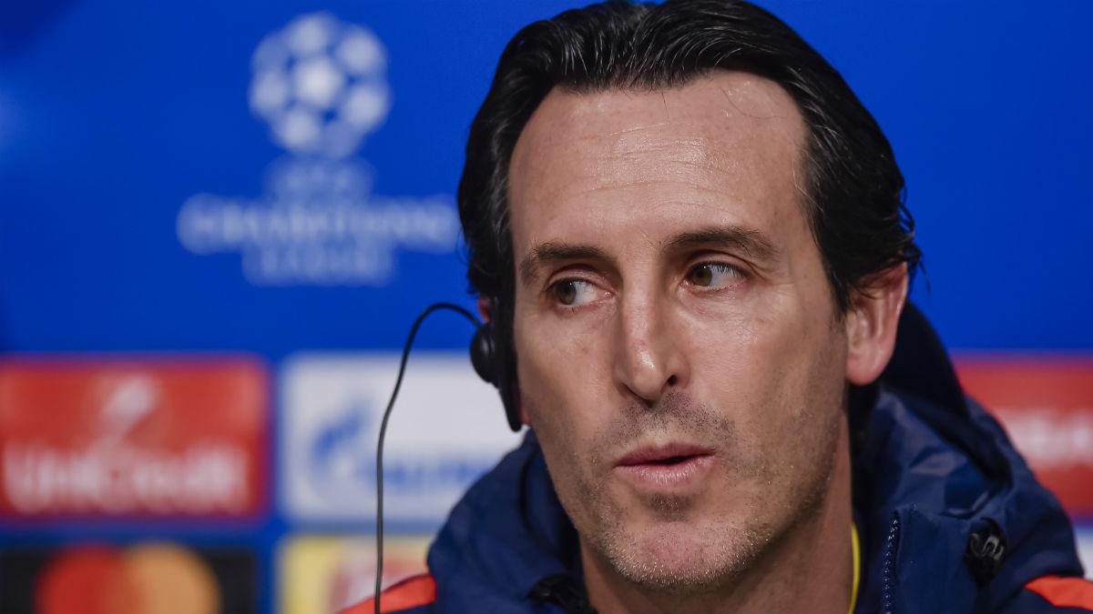 Unai Emery, en rueda de prensa. (AFP)