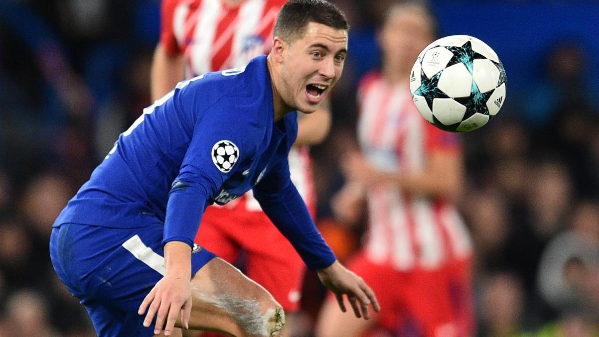 Hazard durante el último partido de Champions con el Chelsea. (AFP)