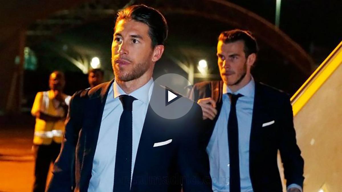 Sergio Ramos y Gareth Bale aterrizan en Abu Dabi. (Realmadrid.com)
