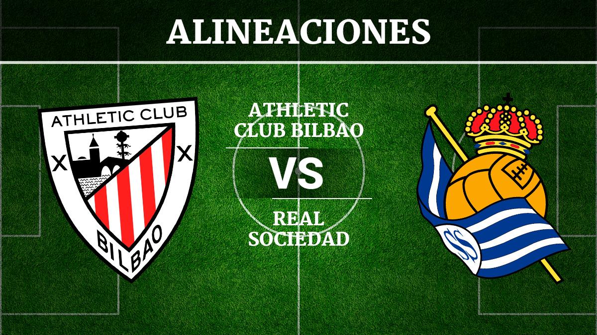 Consulta las posibles alineaciones del Athletic de Bilbao vs Real Sociedad.
