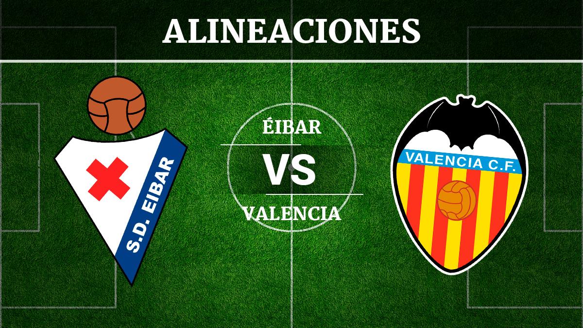 Consulta las posibles alineaciones del Éibar vs Valencia.