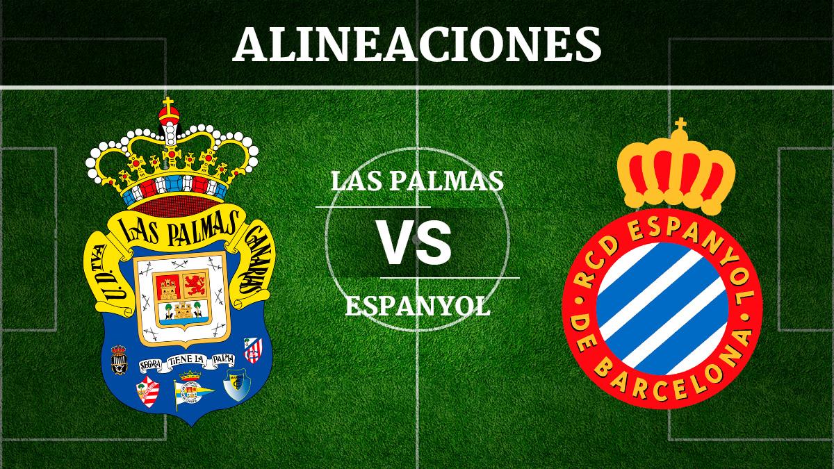 Consulta las posibles alineaciones del Las Palmas vs Espanyol