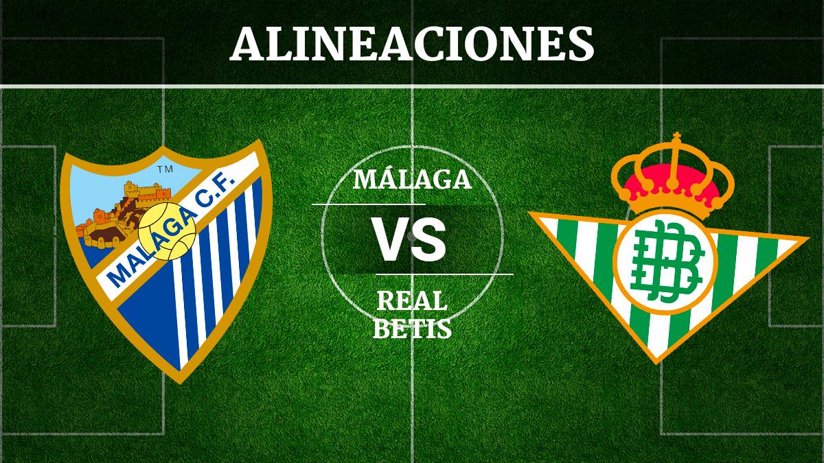 Consulta las posibles alineaciones del Málaga vs Betis.