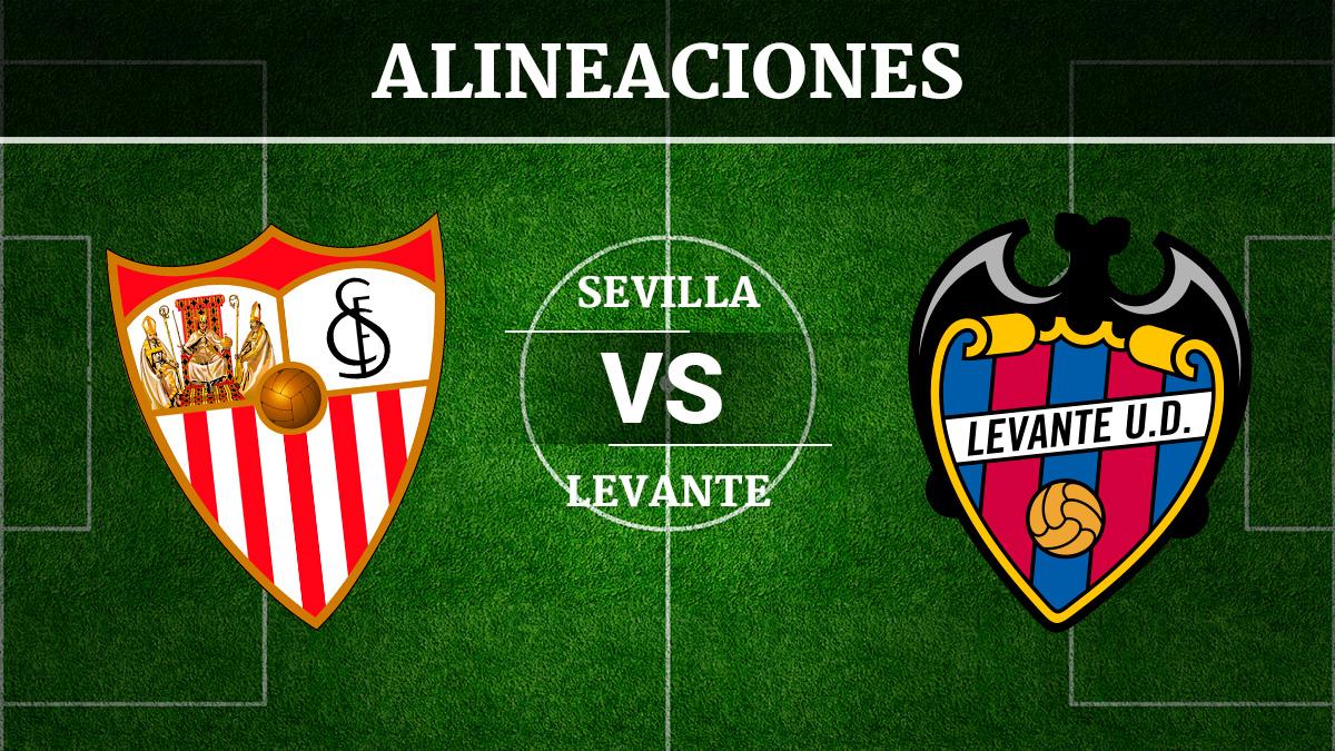 Consulta las posibles alineaciones del Sevilla vs Levante.