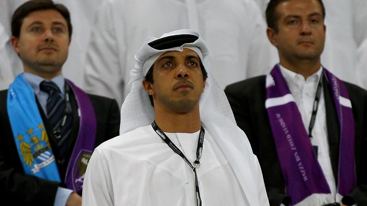 Mansour bin Zayed durante un Manchester City-Al Ain. (Getty Images)