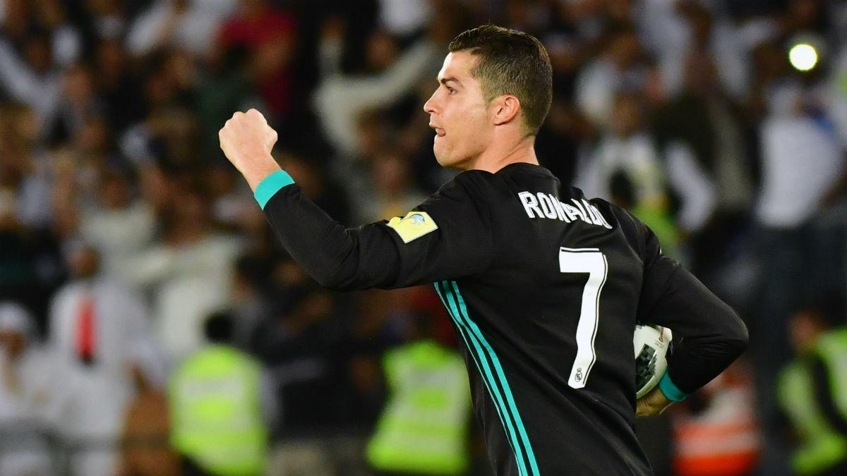 Cristiano Ronaldo celebra su gol ante el Al Jazira. (AFP)