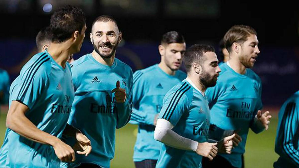 Sergio Ramos y Carvajal, en el entrenamiento del Real Madrid. (realmadrid)
