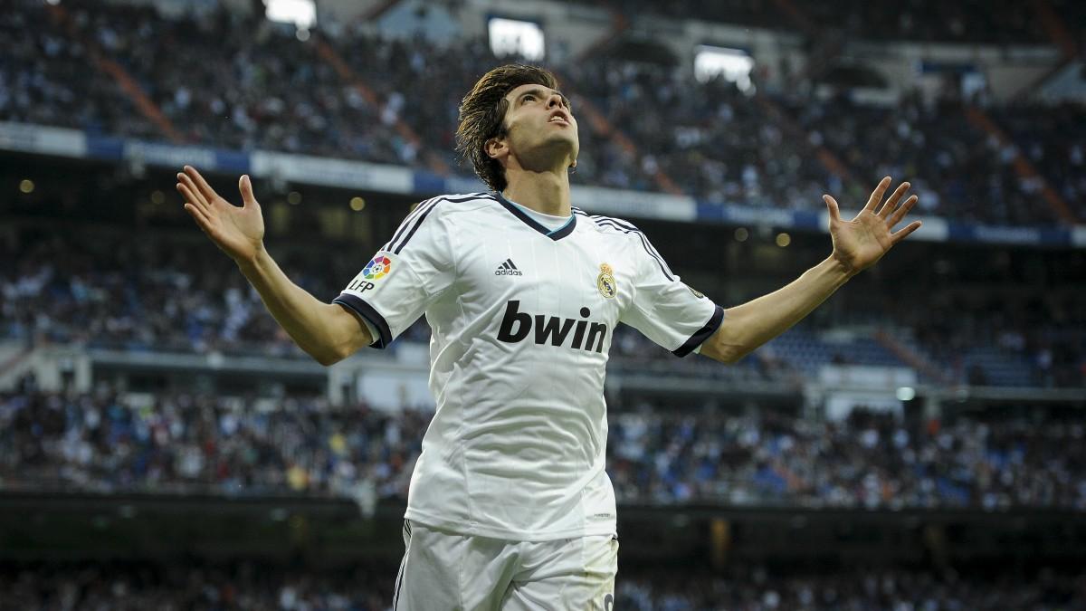 Kaká celebra un gol con el Real Madrid. (AFP)