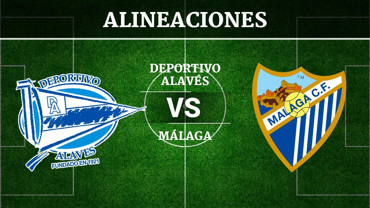 Consulta las posibles alineaciones del Alavés vs Málaga.