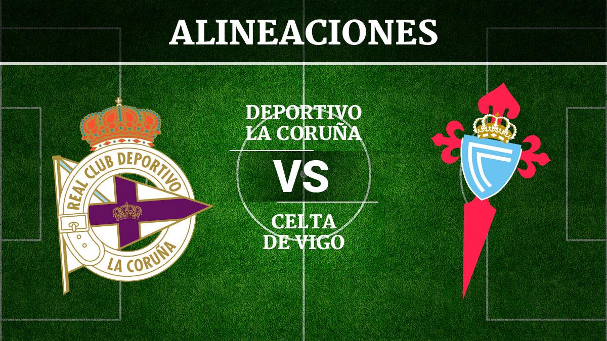 Consulta las posibles alineaciones del Deportivo de la Coruña vs Celta de Vigo.