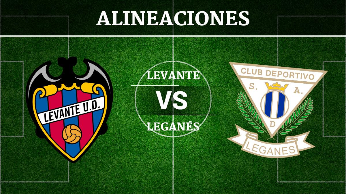 Consulta las posibles alineaciones del Levante vs Leganés.