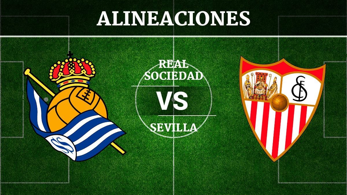 Consulta las posibles alineaciones del Real Sociedad vs Sevilla.