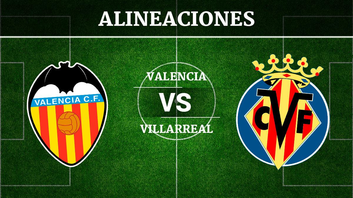 Consulta las posibles alineaciones del Valencia vs Villarreal.